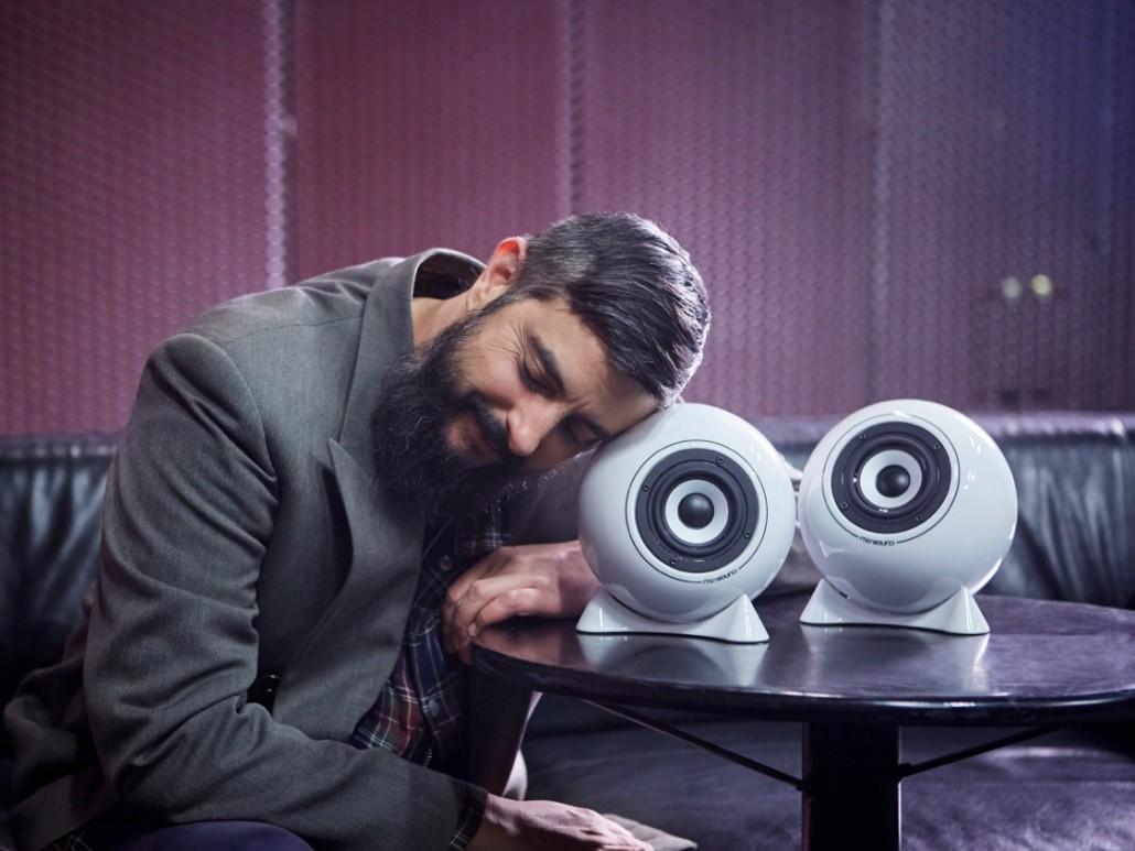 Scott Matthew mit mo° sound Lautsprechern