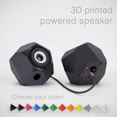3D gedruckte Aktivlautsprecher in verschiedenen Farben
