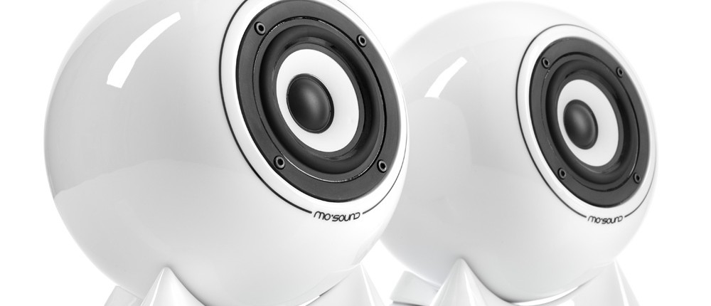 mo° sound Ball Speaker, classic, white