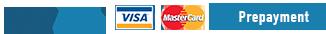 PayPal: Visa, Mastercard or Prepayment