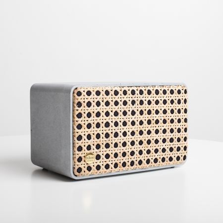 b.ton - Concrete Bluetooth Speaker w. Wiener Geflecht
